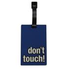 Étiquette bagage dont touch! Bleu foncé