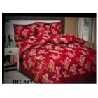 Parure de lit Madison rouge fleuri