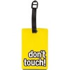 Étiquette bagage don't touch! Jaune