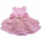Robe tulle volant rose
