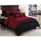 Parure de lit Madison rouge et noir