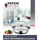 TATCH Swiss tech - Poêle Professionnelle en Inox 26cm