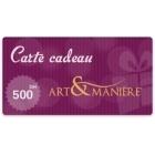 Bon d'achat 500 Dhs- Art & Manière