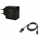 Chargeur USB Duo + câble lightning