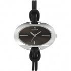 Montre - Clyda De Paris - Bracelet en Cuir Noir Clb0176Rnin