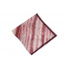 Foulard Duchesse de soie imprimé - Motifs à rayures - Rouge