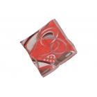 Foulard Duchesse de soie imprimé - Motifs à rubans - Rouge