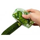 Épluche-légumes à corbeille