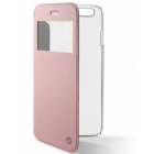 Ksix - Flip case pour iPhone 6, 6S Crystal Pink