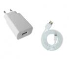 Chargeur USB + câble lightning