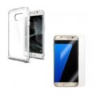 Coque Galaxy S7/Edge en TPU+ protection d'écran en verre trempé