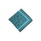 Foulard imprimé effet 100% soie - Bleu