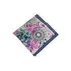 Foulard imprimé effet 100% soie - Motifs à fleurs