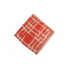 Foulard imprimé effet 100% soie - rouge