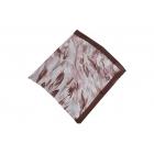 Foulard imprimé Voile de Soie - Motifs à feuilles - Marron