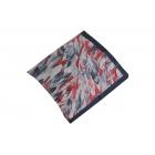 Foulard imprimé Voile de Soie - Motifs à feuilles - Rouge