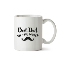 Mug Best Dad in the world moustache