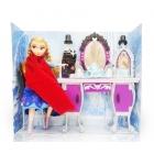 Poupée Elsa avec coiffeuse