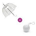 Pack parapluie transparent + imperméable de secours