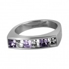 Bague - Jacques Lemans - 6 Cristaux Swarovski Blancs S-R46H56