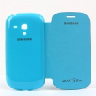 FLIP COVER SAMG Galaxy S3 MINI BLEU CIEL