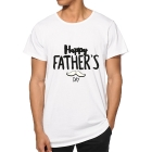 T-shirt Happy Father's Day White