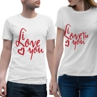 T-shirts assortis I love you