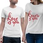 T-shirts assortis I love you