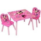 Table + 2 chaises Minnie Mouse