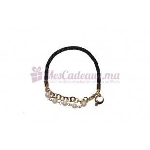 Bracelet En Cuir Tressé - Melany Brown
