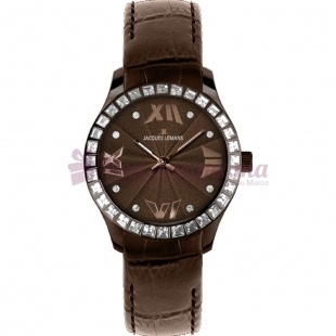 Montre - Jacques Lemans - Bracelet cuir Marron 1-1633G