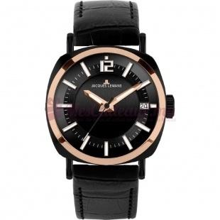 Montre - Jacques Lemans - Bracelet Cuir Noir 1-1647D