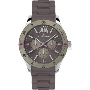 Montre - Jacques Lemans - Bracelet Silicone Marron 1-1691C