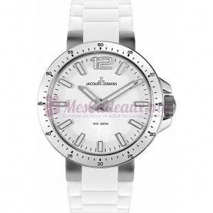 Montre - Jacques Lemans - Bracelet Silicone Blanc 1-1709B