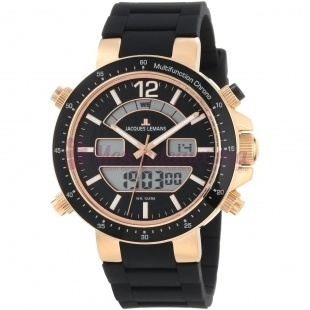 Montre - Jacques Lemans - Bracelet Silicone Noir 1-1712Y