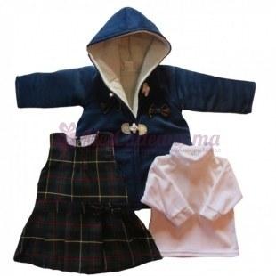 Ensemble manteau, robe et sous pull