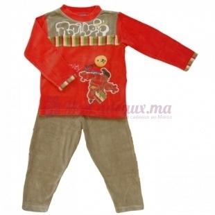 Pyjama velour rouge
