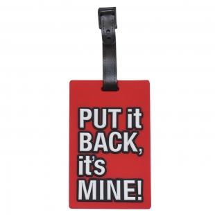 Étiquette bagage Put it Back, It's Mine! rouge