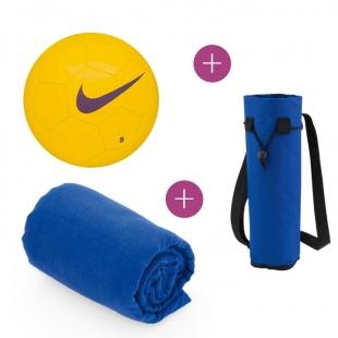 Pack Ballon Nike + Glacière bouteille + Serviette absorbante