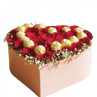 Coffret Roses and Chocolate