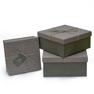 3 boites cadeau Wood
