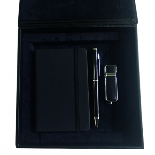 Coffret bloc-notes + stylo + clé USB Black
