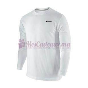 Sweatshirt Blanc - Nike - Ath Dept Basic Ls Crew Tee