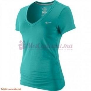 Pull Col V Vert Ss Solid Swoosh - Nike - Femme