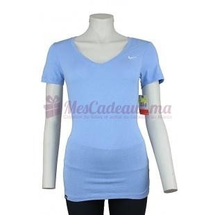 Pull Col V Bleu Ss Solid Swoosh - Nike - Femme