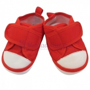 Chaussures tennis basique - Rouge