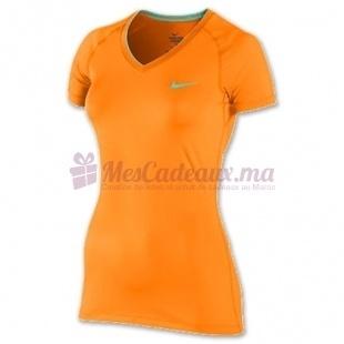 T-Shirt Nike Pro Ss V Neck Ii - Nike - Femme