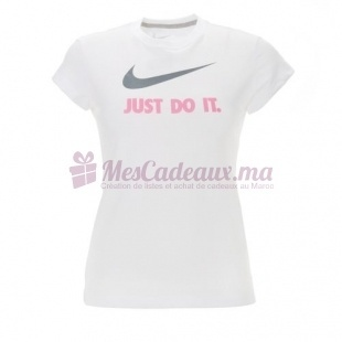 T-Shirt Blanc Just Do It - Nike - Fille