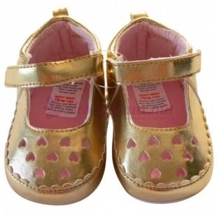 Chaussures dorées fille