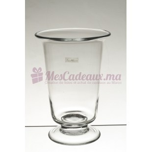 Petit Vase Sur Pied Transparent - Pierre Boisée - Tanger